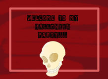 Skull party invitation Royalty Free Stock Image