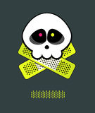 Skull patch A Royalty Free Stock Photos