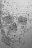 Skull pattern. Skull patern on white material Stock Photo