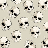 Skull pattern stock illustration