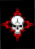 Skull with  pattern. Vector image of  skull with  pattern design of  tattoo Royalty Free Stock Photography