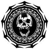 Skull_on_pattern 免版税库存图片