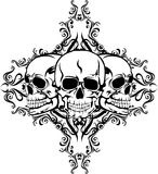 Skull and pattern. Vector illustration skull and pattern for tattoo design format EPS8 Stock Photography