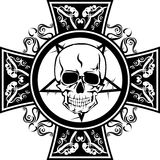 Skull and pattern. Vector illustration skull and pattern for tattoo design format EPS8 Stock Photos
