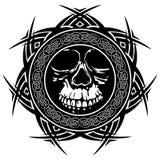Skull_on_pattern 库存照片