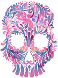 Skull with pattern. Abstract skull with floral pattern Royalty Free Stock Photo