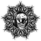 Skull_on_pattern Stock Image