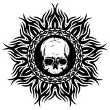 Skull_on_pattern Royalty Free Stock Images