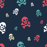 Skull Pattern Colored Royalty Free Stock Photography
