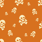Skull Pattern Orange Stock Images