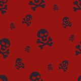 Skull Pattern Red Stock Images