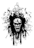 Skull and patterns. Vector image skull and patterns Stock Images