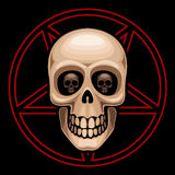 Skull and pentagram Royalty Free Stock Images