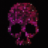 Skull pink. Beads, sequins. Stock Photography