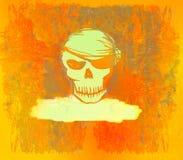 Skull Pirate card Stock Photo