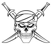 Skull Pirate Royalty Free Stock Images