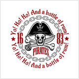 Skull in pirate hat - Jolly Roger Royalty Free Stock Photo