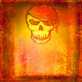 Skull Pirate - retro card Royalty Free Stock Photos
