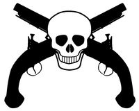 Skull and Pistols Royalty Free Stock Image