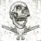 Skull and pistols Stock Photo