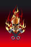 Skull piston flame Stock Photography
