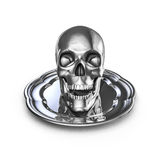 Skull platter metal Stock Photography