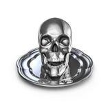 Skull platter metal Stock Photography