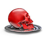 Skull platter red Royalty Free Stock Images