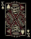 Skull Playing Card. Fully editable vector illustration of skull playing card, image suitable for crest, insignia, tattoo or graphic t-shirt Royalty Free Stock Photos