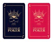 Skull poker card  Stock Image
