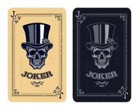 Skull poker card  Stock Images