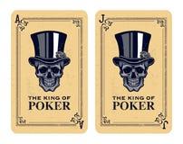 Skull poker card vector Stock Images