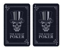 Skull poker card vector Stock Photos