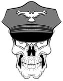 Skull with a police cap Royalty Free Stock Photo