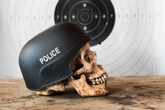 Skull police Royalty Free Stock Images
