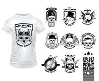 Skull Print Design Set Royalty Free Stock Photo