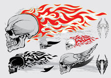 Skull profile design elements Stock Image