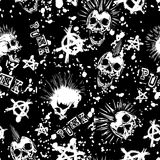 Skull_punk_background 图库摄影