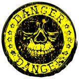 Skull radiation stamp set Stock Images