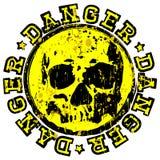 Skull radiation stamp set Stock Image