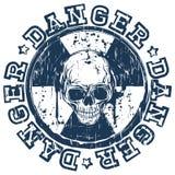 Skull radioactivity danger Royalty Free Stock Image