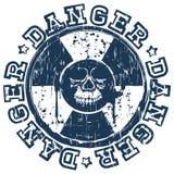 Skull radioactivity danger Royalty Free Stock Photo