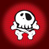 Skull Red stock illustration