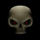 Skull with red eyes Stock Image