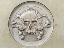 Skull relief Royalty Free Stock Photography