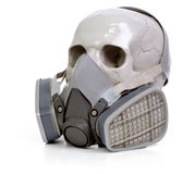 Skull and respirator Royalty Free Stock Image