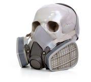 Skull and respirator Royalty Free Stock Image