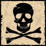 Skull on a retro background Stock Photos