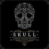 Skull retro vintage luxury logo template Stock Photos