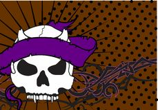 Skull ribbon tattoo background 5 Stock Images